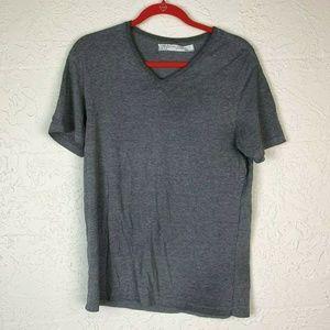 Zara Basic Slim Fit Tee L USA 40 Gray T-Shirt